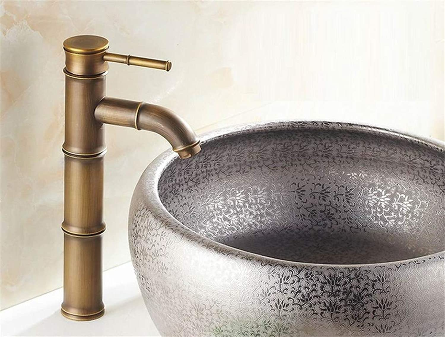 Tap Mixer Kitchen Sink Taps Deck Mounted Single Handle Bamboo Style Bathroom Sink Mixer Faucet Bronze High Quality Popular Hot and Cold Water