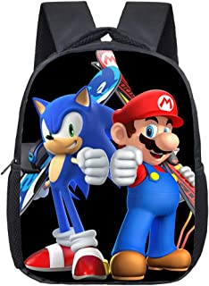 Bonamana - Mochila escolar con impresión en 3D de Super Mario Bros, mochila de viaje