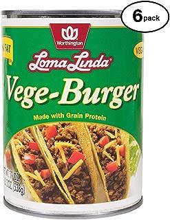 Loma Linda - Plant-Based - Vege Burger (19 oz.) (Pack of 6) - Kosher