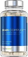 Brain Complex, Nootrópico | Suplemento para el cerebro, Complejo Multivitamínico Vegano para la Concentración y Memoria | Fórmula de Vitaminas y Minerales para Reducir el Cansancio y la Fatiga