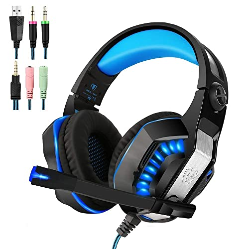 Blue Noise Reduction Professional Microphone Gamer Headphones for Xbox One PC