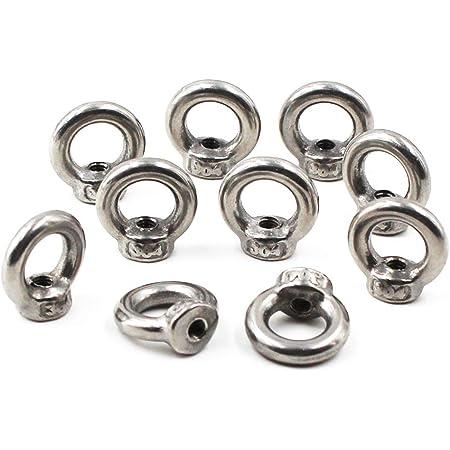 M3 Ring Shape Lifting Eye Nut 304 Stainless Steel Threaded Nut Fastener-25 Pack