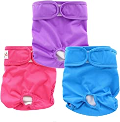 OHBABYKA Premium Washable Male and Female Dog Diapers of Durable Doggie Diapers for Pets