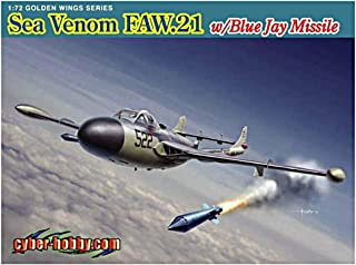 Cyber Hobby Models Sea Venom FAW.21 Model Building Kit with Blue Jay Missile, Scale 1/72