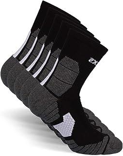 Calcetines deportivos unisex para el deporte y el jogging (5 pares) tamaño: 35-50 color: negro - ideales para el jogging, correr, hacer deporte - algodón