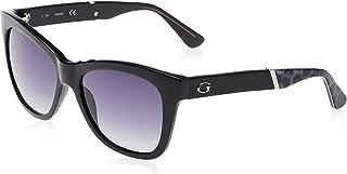 GUESS Unisex Adults' GU7472 01B 56 Sunglasses, Black (Nero Lucido/Fumo Grad)