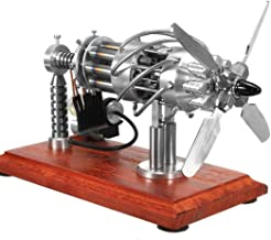 WOLFBUSH Hot Air Stirling Engine Model Toy, 16 Cylinders Swash Plate Hot-air Stirling Engine Model for Children and Adults