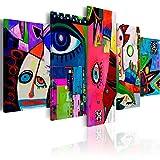 murando - Cuadro en Lienzo 200x100 cm Abstracto Impresión de 5 Piezas Material Tejido no Tejido Impresión Artística Imagen Gráfica Decoracion de Pared Arte a-A-0113-b-n
