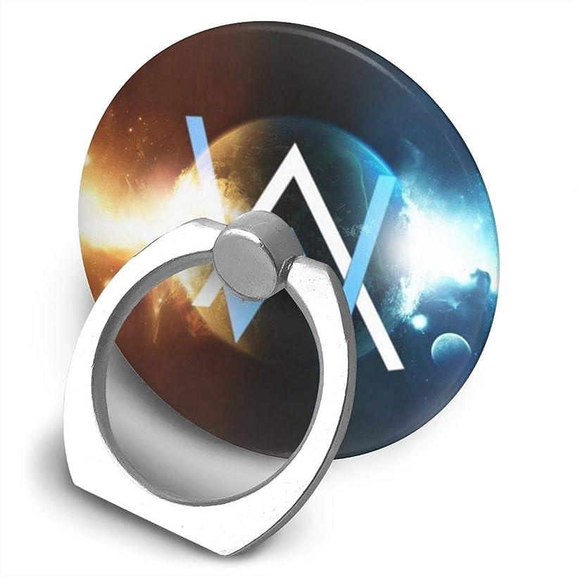 休み生産性袋Greatayifong アラン ウォーカー Alan Walker バンカーリング スマホ リング 人気 ホールドリング 薄型 スタンド機能 ホルダー 落下防止 軽い 360 回転 IPhone/Android各種他対応 (シルバー)