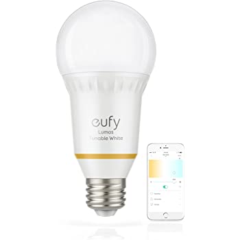 eufy Lumos Smart Bulb by Anker, Works with Amazon Alexa and Google Assistant, No Hub Required, Wi-Fi, 60W Equivalent, Dimmable LED Light Bulb, A19, E26, 800 Lumens (Tunable White)