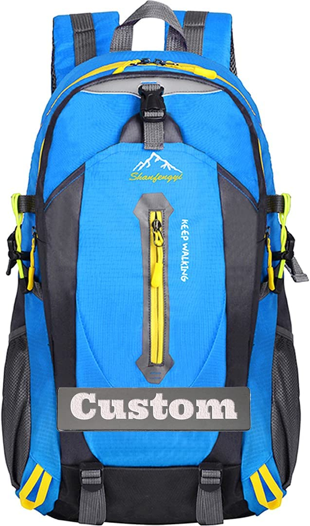 NANSHAN✅ Personalized Custom Name Pack Bag for Women Lightweight Hiking Backpack Nylon Backpack (Color : Blue, Size : One Size)