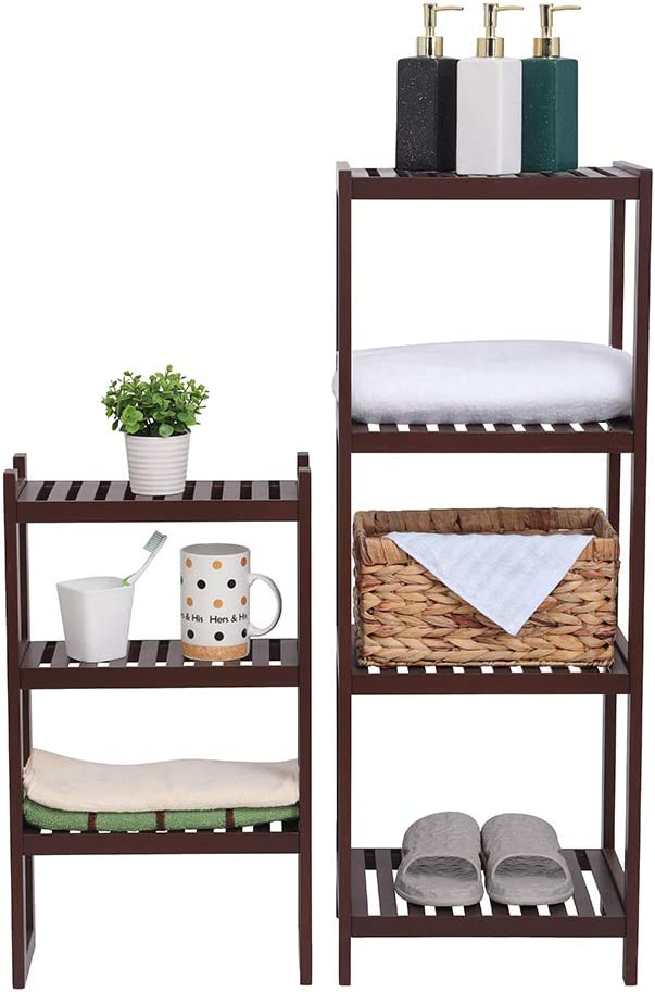 Bamboo Bathroom Shelf 7-Tier Multifunctional Shelvi Storage Washington Mall Rack Max 53% OFF
