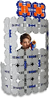 Blaster Boards - 1 Pack   Kids Fort Building Kit for Nerf Wars & Creative Play   46 Piece Set