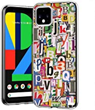 NakedShield Clear Flex Gel Phone Case Compatible for Google Pixel 4,G020I,Alphabet Graffiti Print,Light Weight, Unbreakable, Flexible, Surround Edge Protection,Designed in USA