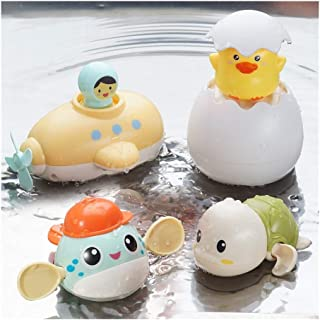 4pcs Baby Bath Toys Squirt Spray Water Toy Bathtub Toys Animal Toy Shower Set Spray Faucet Infant Kids Bathtub Shower Pool...