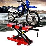 GOTOTOP Ponte Sollevatore Motocicletta,Moto Cric Idraulico ConStands,Martinetto Idraulico Sollevatore cric per motociclette,capacità Fino a 500 kg