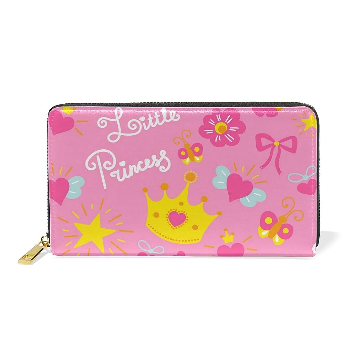 いいねこしょう取り出すALAZA 財布 可愛い プリンセス 本革 大容量 18枚 多機能 ラウンドファスナー 小銭入れ付 レディース 二つ折り