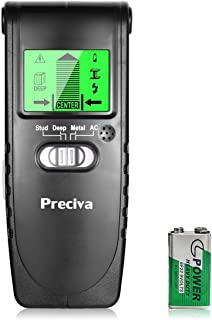 Detector de Pared Preciva 3 en 1 Detector de Metal, Madera y AC Cable,
