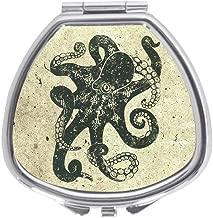 Custom Nautical Steampunk Octopus Vintage Kraken Drawing Decorative Sliver Sector Pill Box Medicine Case Holder Pillbox Tablet Gift