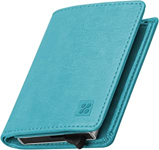 Promate RFID Blocking Wallet, Ultra Slim Bifold Leather Wallet with RFID Protection and 2 Currency Pockets for ID Card, Cr...