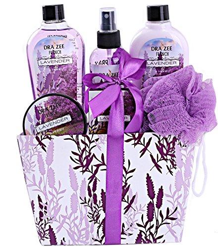 Draizee Spa Basket with Refreshing Lavender Fragrance