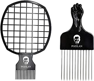 Magic Afro Hair Pick Twist Comb for Men & Women, Twist Hair Up Curly for Afros Dreads, Curl Better Than Coil Sponge Brush, for Barber and Personal Use (Black)
