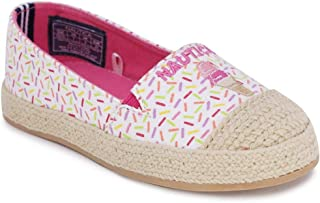 Nautica Kids Girls Flats Slip-On Espadrille Canvas Casual Shoe with Rope Stitching-Ancore (Toddler/Little Kid)