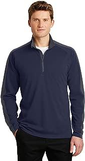 Sport-Tek Sport-Wick Textured Colorblock 1/4-Zip Pullover-ST861-4XL