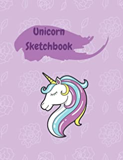 "Unicorn Sketchbook: Cute Animal Sketchbook, 120 Blank White Pages, Handy Larger Size (8.5""x11""), High Quality matte cover...."