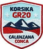 2 x Korsika GR20 Abzeichen 51 x 60 mm / Fernwanderweg GR-20 Aufnäher Aufbügler Flicken Sticker Patch für Trekking Outdoor Wandern Camping / Patches zum Aufbügeln Aufnähen auf Kleidung...