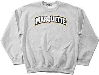 NCAA Marquette Golden Eagles 50/50 Blended 8-Ounce Vintage Arch Crewneck Sweatshirt