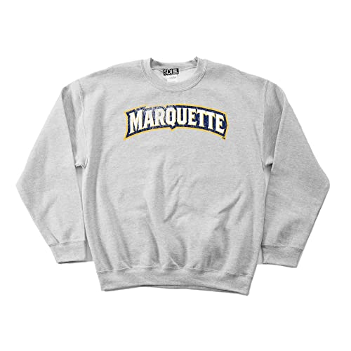 97eefd2e5c6c35 SDI NCAA Marquette Golden Eagles 50 50 Blended 8-Ounce Vintage Arch  Crewneck Sweatshirt