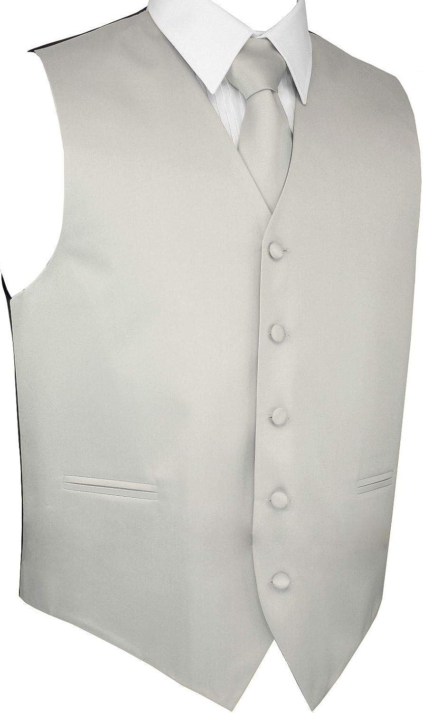 Men's Al sold out. Formal Tuxedo Vest Tie Square SEAL limited product Platinum Pocket in Set