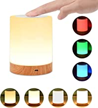 Night Light, UNIFUN Touch Lamp for Bedrooms Living Room Portable Table Bedside Lamps with Rechargeable Internal Battery Di...