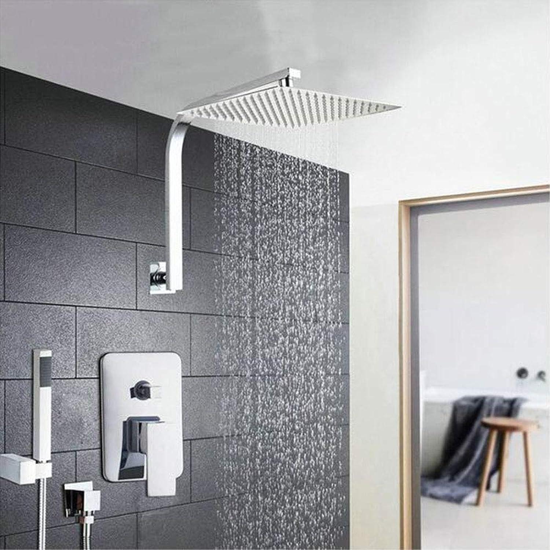 MICHEN 6 8 10 12 16 Zoll Duschkopf System Edelstahl Regendusche Set Armaturen Mit Handbrause Badezimmer Bad Dusche Combo Set,8inch