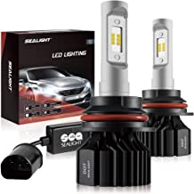 SEALIGHT 9004 LED Headlight Bulbs HB1 Daul High/Low Beam Headlamp 6000LM 6000K Xenon White