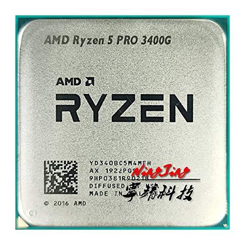 Ryzen 5 PRO 3400G R5 PRO 3400G 3.7 GHz Quad-Core Eight-Thread 65W CPU Processor YD340BC5M4MFH Socket AM4