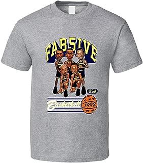 Fab Five Michigan Retro Caricature Grey T Shirt