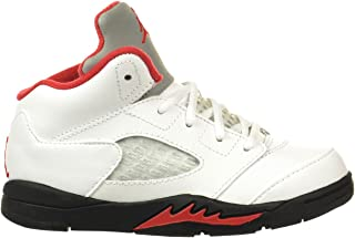Jordan 5 Retro (TD) Fire Red Baby Toddlers Shoes White/Red/Black