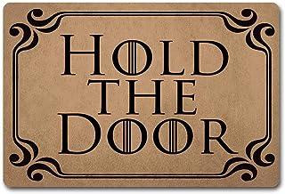 """Bennett11 Mats Hold The Door Doormat Rugs Monogram Mat Fabric Anti-Slip Rubber Back Door Hello Doormat 23.6"""" 15.7"""""""