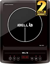iBELL Hold The World. Digitally! 2000 W Induction Cooktop with Auto Shut Off and Overheat Protection,BIS Certified Black
