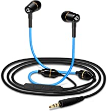 Tuisy Air Tube Headset - Upgraded Radiation Free Headphones Metal Binaural Earbuds Earphone with Microphone and Volume Control, EMF Protection, Universal for Cell Phones PC MP3, Blue