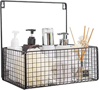 Trafagala 浴室ラック お風呂用バスケット 壁掛け 収納かご 多機能 シャンプー コンディショナー バス用品 洗顔用品収納 水切り シャワー用品(ブラック)