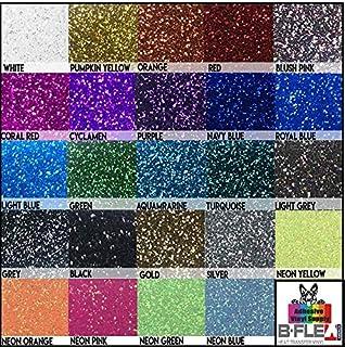 "B-Flex Sandy Glitter Premium HTV - Iron On Heat Transfer Vinyl (Gold, 12""x20"")"