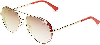 Guess 19307211 Aviator Shiny Rose Gold/Bordeaux Mirror for Women (GU760728U58 28U - 58)