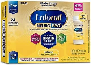 Enfamil NeuroPro Infant Formula, 20 Calorie/fl oz Nursettes, 0-12 Months (Pack of 4 (24 CT))