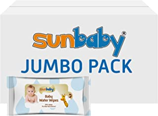 SunBaby Water Wipes Jumbo Pack 15 x 35 Wipes (525 Count), Pack of 1