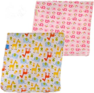 """2pcs Pack Monvecle Baby Infant Waterproof Cotton Changing Pads Washable Resuable Diapers Liners Mats (2pcs Pink-28""""x20"""")"""