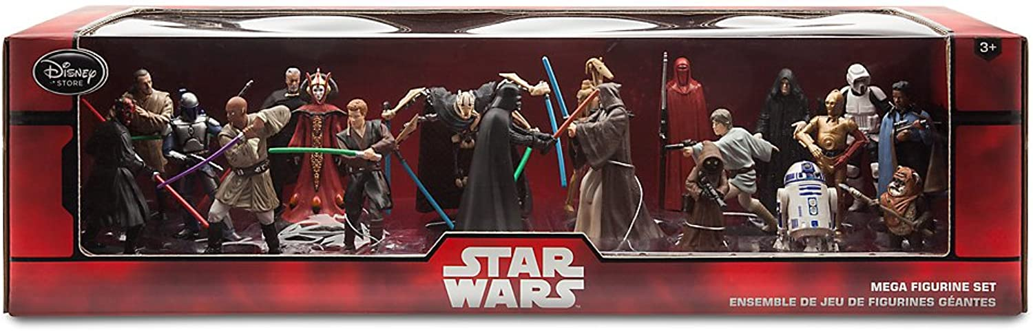 Star Wars Mega Figurine Playset - 20 character pieces by Disney