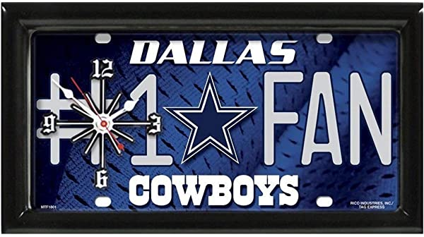Dallas Cowboys 1 Fan Clock
